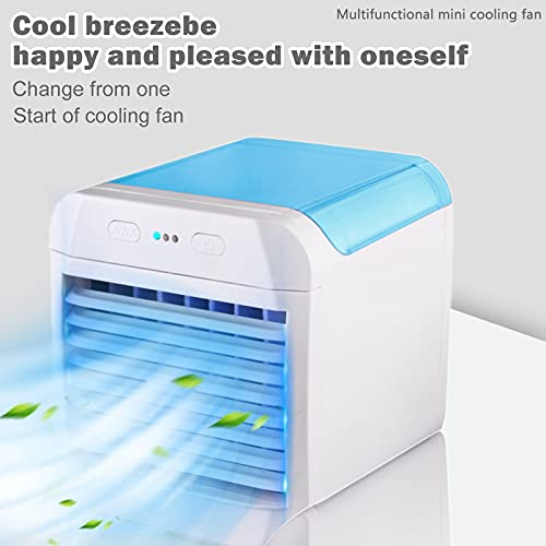 bestheart Air Cooler,Personal Mini Space Cooler with LED Light and Purifier,Air Humidifier for Home & Office Desk Outdoors Travel (B)