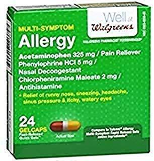Amazon com: Walgreens Allergy Multi-Symptom Fast Release