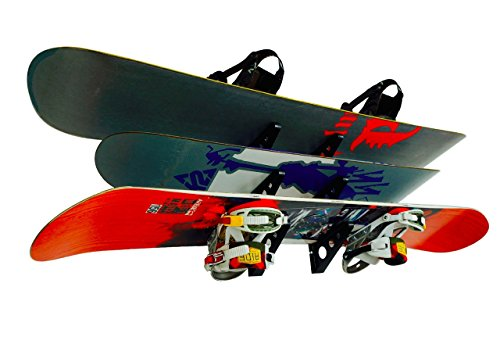 StoreYourBoard Snowboard Multi Wall Rack | Home Storage & Organization Horizontal Mount