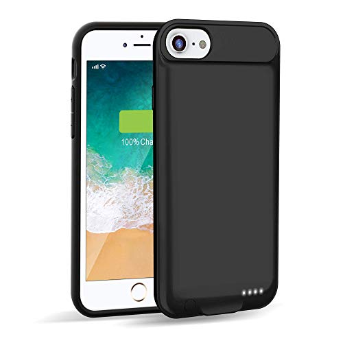iPhone 7/8 Battery Charging Case Slim,Venevix 3000mAh Extended Protective Charger Case for Apple iPhone 7 8(4.7inch) Support Lightning Charge and Earphones-Black
