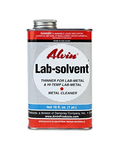 Alvin 16 oz Lab Solvent Thinner for Lab Metal & Hi Temp Lab Metal & Metal Cleaner (Alvin Paint)