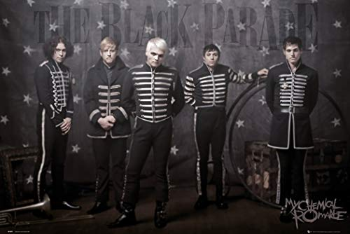 My Chemical Romance - Music Poster (The Guys - The Black Parade) (Size: 36 x 24 inches) (Unframed, Unframed)