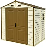 Duramax StoreAll 8 x 6 Vinyl Storage shed with Foundation