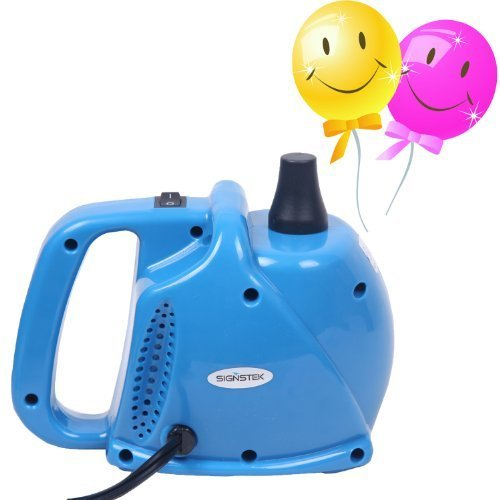 Signstek Electric Portable Balloon Air Pump Inflator with 15000pa Single Nozzle 700L/min Air Volume and Dozen of Balloons