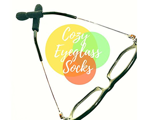 Eyeglasses Hurt? Keeps Glasses Off Nose - Get Two (2) Pair of Cozy Eyeglass Socks PLUS FREE Ear Cushions (Prevent Nose Dents & Slipping) Eyeglass/Sunglasses Accessories by Bye-Bye Nose Dents