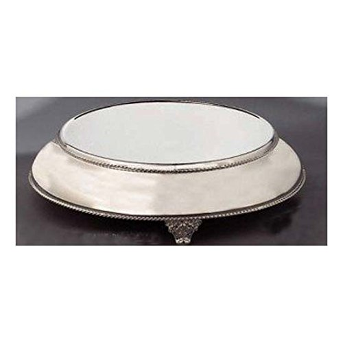 Elegance Silver 89891 Silver Plated Round Cake Stand, 14''