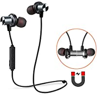 Bluetooth Earbuds, Tesson Wireless V4.1 Magnetic Headphones Super Bass Stereo Noise Cancelling Earphones, Sweat proof Comfortable , Secure Fit for Sports with Built-in Mic