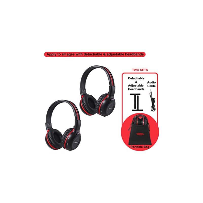 2 Pack of Wireless Car Headphones, Wirel