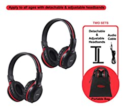 2 Pack of Wireless Car Headphones, Wirel...