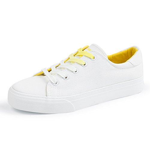 Zapatos Lona mujer 01 New de Style Blancos Nan Zapatos de Zapatos Summer gFxqgr