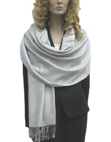 WATER SHAWL/SUMMER SHAWL IN MANY COOL VIBRANT COLORS (SILVER GREY)