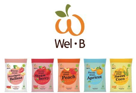 Wel-B Freeze-dried Peach, Freeze-dried Fruit Snack Unsweetened and 0% Fat, Real Healthy Snack 14g.(pack3)