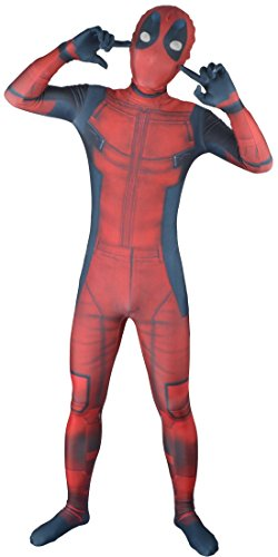 Mark Costume 3D Deadpool Costume (Kids Small, Catsuit and Mask) (Super Hero Morphsuits)