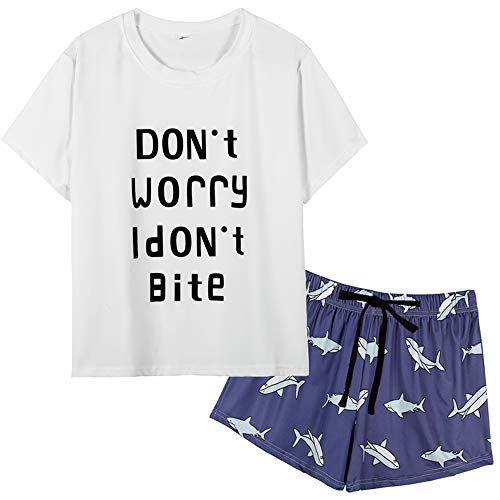 VENTELAN Women's Sleepwear Stylish Print Pajama Set Soft Plus Size Sleep Set