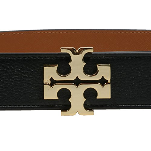 b56cde102bbc Tory Burch 1.5   Reversible Logo Black Brown Belt- Small by Tory Burch