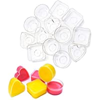 30PCS Clear Plastic Tealight Cup DGQ Heat-Resistant Tea Light Holders Containers for Anniversary Votive Candle DIY Mold…
