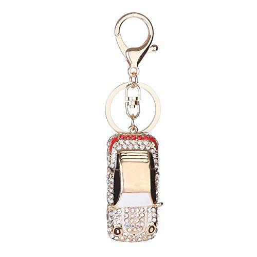 Jocestyle Women Clothing Decorations Accessories Rhinestone Mini Car Keychain Charm Bag Key Ring Women Handbag Jewelry from Jocestyle