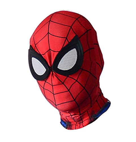 Haokicos Unisex Lycra Spandex PS4 Spider Bodysuit Halloween Cosplay Costume 3D Style Adult/Kids Spider Tights Zentai Jumpsuit (Adult-One Size, Only Mask) ()
