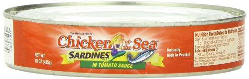 Chicken of the Sea Sardines in Tomato Sauce, 15 Ounce  (Pack of 12)