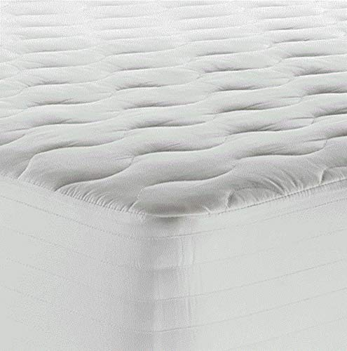 (Therapedic 250-Thread Count King Waterproof Mattress Pad in White )