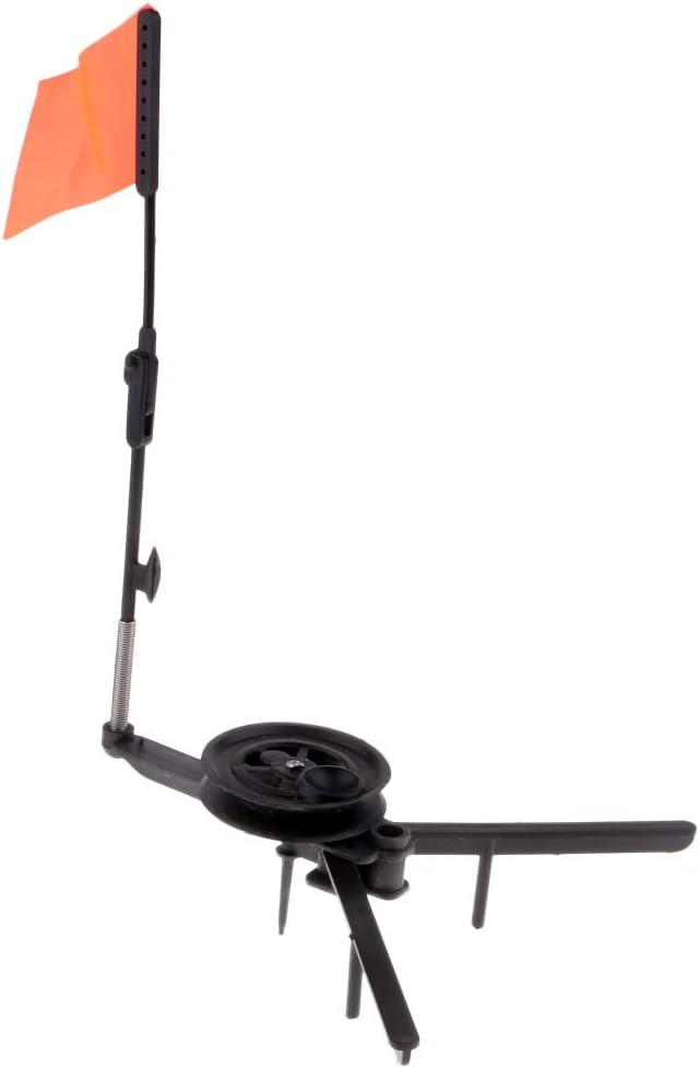 Durable Orange Flag Ice Fishing Rod Hole Cover Round Tip-Up Ice Fishing Tool
