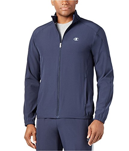 Champion Mens Woven Performance Track Jacket, Blue, Small (Woven Track Champion)
