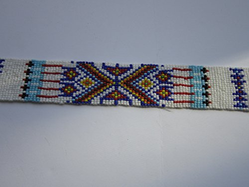 GLASS BEADED STRIPS 3 SIZES BEADWORK TRIBAL NATIVE CRAFTS POW WOW REGALIA S3 (20 x 1 1/4)
