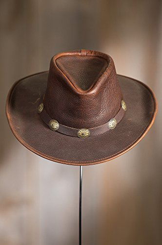 Overland Sheepskin Co Raging Bull Leather Cowboy Hat by Overland Sheepskin Co (Image #4)