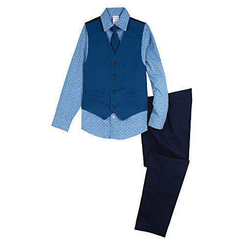 Van Heusen Boys' Big 4-Piece Formal Dresswear Vest Set, Olympia Print 16