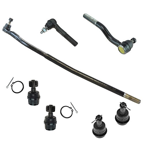 (7 Piece Steering & Suspension Kit Upper & Lower Ball Joints w/Tie Rod Ends)