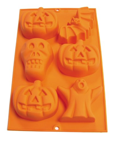 Lekue 6 Cavity Halloween Mold, Orange ()