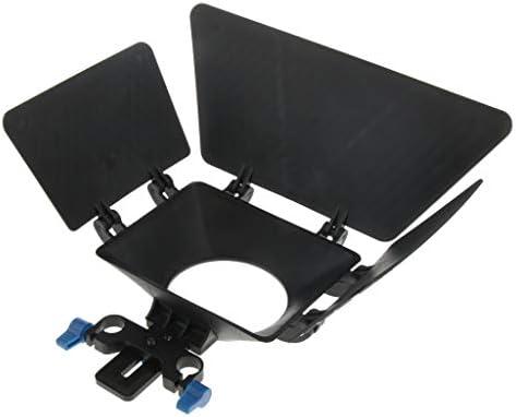 B Baosity プロ dslrスイングアウェイマットボックス サンシェード 15mmレールロッドリグシステム