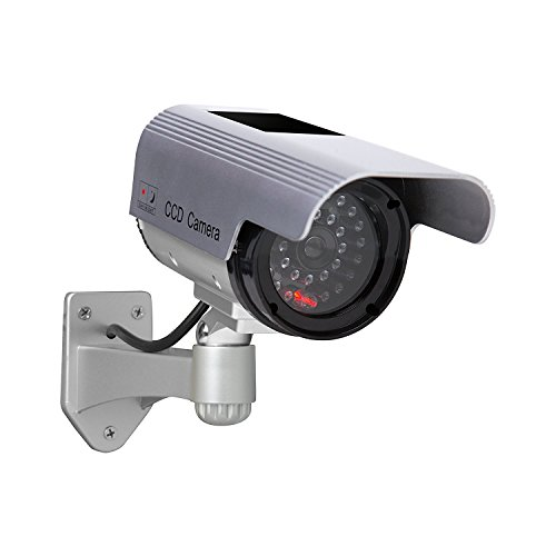 Solar Power Dummy Fake Imitation Home CCTV Security Surveillance Camera - 4
