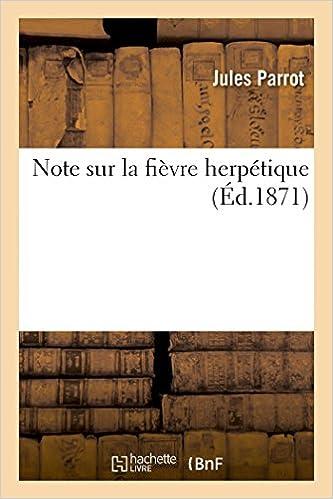 Lire Note sur la fièvre herpétique pdf
