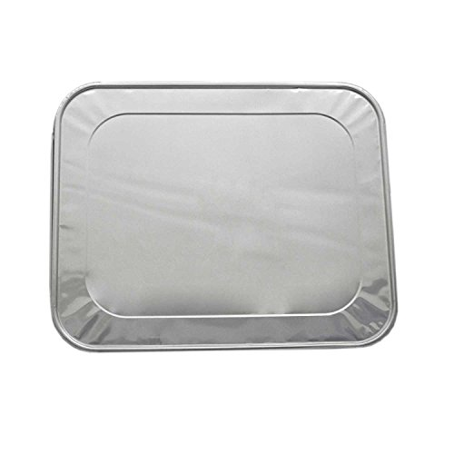 20-Pack Aluminum Foil Lids for 9x13 Aluminum Steam Table Pans, Baking Pans, and Drip Pans - Fits Half-Size Disposable Silver Foil Food Containers – Extra Thick and Sturdy, Perfect for Meal Storage & S