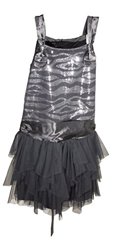 - Biscotti Kate Mack Big Girls Tiered Chiffon Dress (Black, 8)