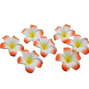NUOLUX 100pcs 6CM Plumeria Hawaiian Foam Frangipani Flower 31