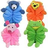 Children Body Pouf Net Sponge Terry Cloth Animal Varied