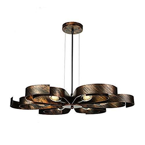 Petals 5 Light Chandelier - Ruanpu Industrial Semi Flush Ceiling Light Vintage 23.62