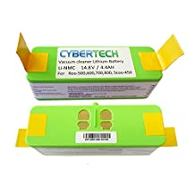 Lithium Li-Ion 4400mAh Replacement Battery (2Hrs+ Run Time) for iRobot Roomba 500, 600, 700, 800 Series and Scooba 450, High Capacity 4.4Ah, 2 Years Warranty by CyberTech, 880 510 530 532 535 540 545 550 552 560 562 570 58