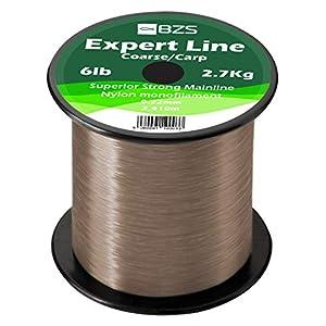 BZS Expert Fishing Line Monofilament Carp Line Brown and Clear Monofilament Spools 4lb 5lb...