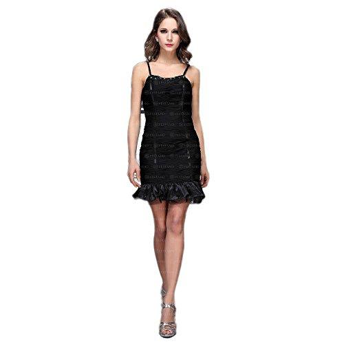 Kleid bei Mini Damen Cocktail Ital Design Festamo Schwarz Für qpanE