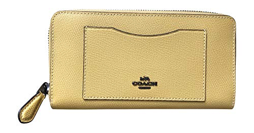 Coach Crossgrain Leather Accordion Zip Wallet (Sunflower) ()