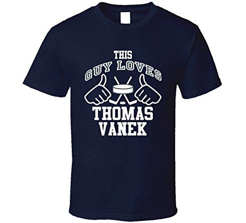 This Guy Loves Thomas Vanek Buffalo Hockey Fan Sports T Shirts 2XL (Thomas Vanek Buffalo)