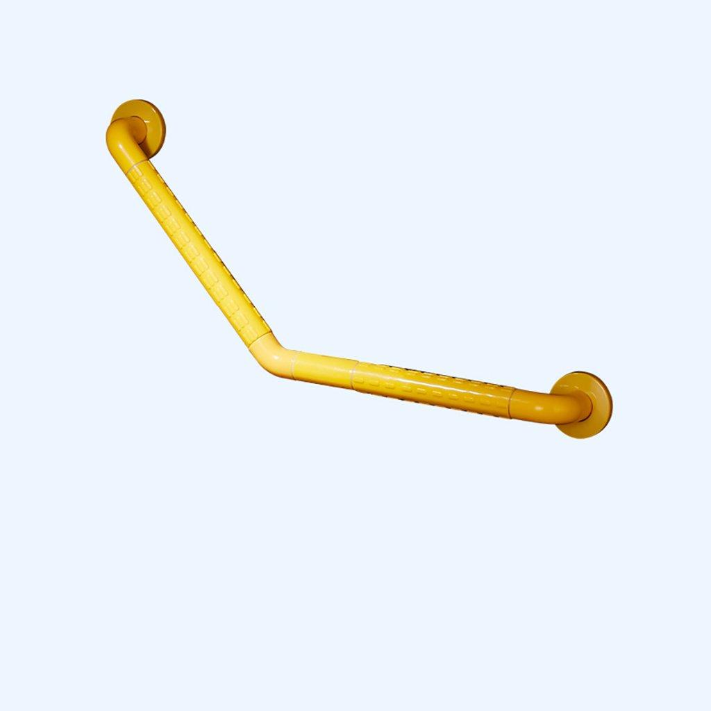 手すりフレーム135度障壁のないバスルームの安全階段バスタブのシャワーを浴びるトイレノンスリップLのレール (サイズ さいず : Yellow 45cm-45cm) B07D9YGHYZ Yellow 45cm-45cm  Yellow 45cm45cm