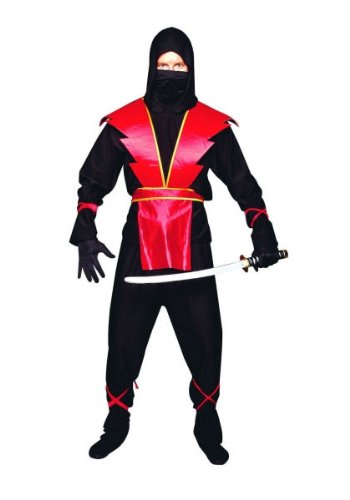 Ninja Master (Red) Teen Costume Size (Ninja Master Adult Costumes)