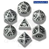 Carved Dragon Dice Set (Gray and Black)