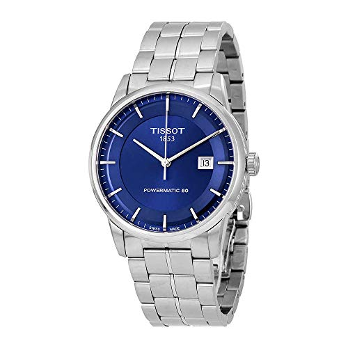 (Tissot Men's T0864071104100 Analog Automatic Silver-Toned Stainless Steel Watch)