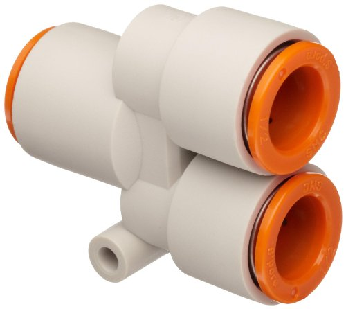"""SMC KQ2U07-00A PBT Push-to-Connect Tube Fitting, Union Wye, 1/4"""" Tube OD from SMC"""