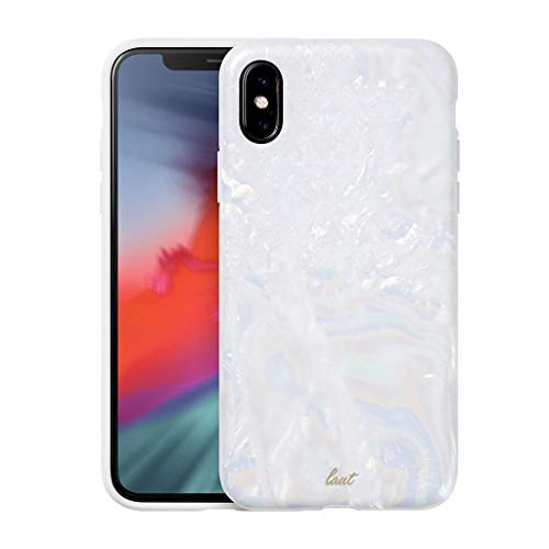 15abe2c13e5 LAUT - POP Arctic Pearl case for iPhone X with Anti-Scratch Dual Layer  Protection